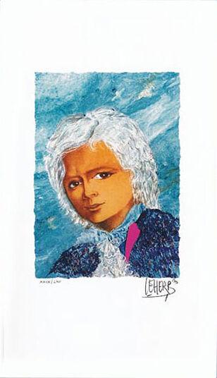 "Helmut Maitre Leherb: Bild ""Wolfgang Amadeus Mozart"", ungerahmt"