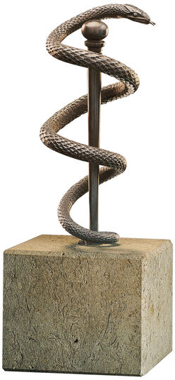 "Sculpture ""Snake of Aesculapius"", Metal casing"