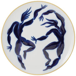 "Dessert Plate ""Uranie + Calliope"" with Golden Decor - from The Collection Bacchanale von Bernardaud"