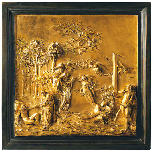 "Lorenzo Ghiberti: Wall Relief ""Creation of Eve"""