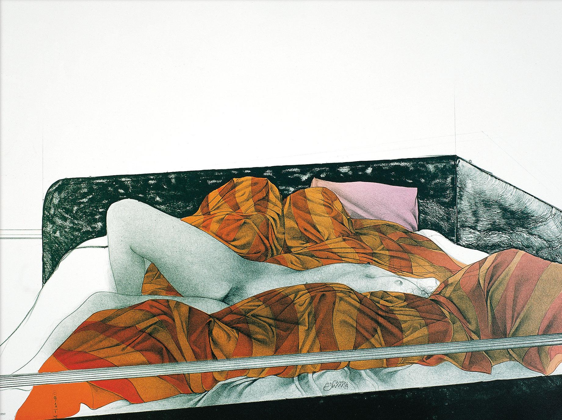 """Picture """"Il letto rigato"""" (1991)"""