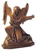 "Skulptur ""Lautenspielender Engel"", Kunstguss"