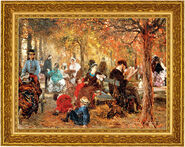 "Picture ""Jardin de Luxembourg"" (1876) in frame"