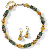 "Jewellery set ""Yellow Agate"""