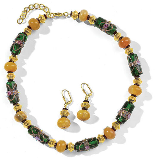 "Petra Waszak: Jewellery set ""Yellow Agate"""