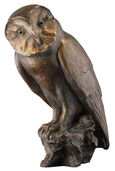 "Sculpture ""Barn Owl"" (1996), bronze"
