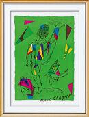 "Bild ""Der grüne Akrobat"", gerahmt"