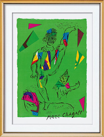 "Marc Chagall: Bild ""Der grüne Akrobat"", gerahmt"