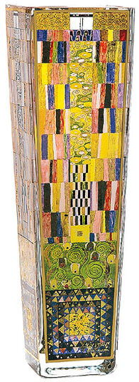 "Gustav Klimt: Glass vase ""Stoclet Fries"""
