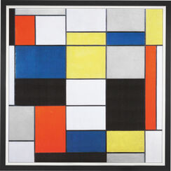 "Painting ""Composition A"" (1920) in a frame"