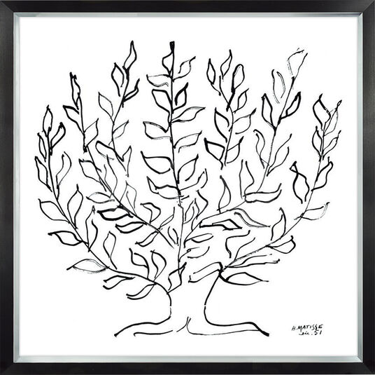 "Henri Matisse: Bild ""Le Plantane"" (1951), gerahmt"