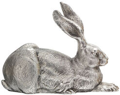 "Sculpture ""Dürer Hare"", version in silver-plated bronze"