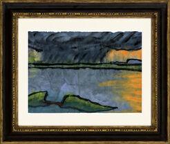 """Bild """"Letztes Abendlicht am Meer"""" (um 1920)"""