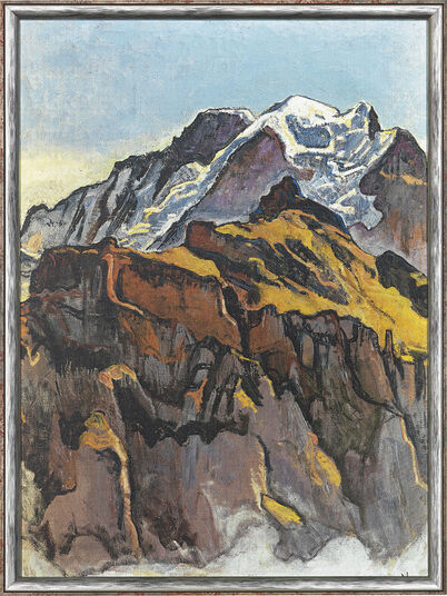 "Ferdinand Hodler: Picture ""Virgin from Murren"" (1911) in frame"
