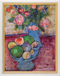 """Picture """"The Blue Vase"""" in museum framing"""