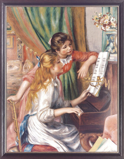 "Auguste Renoir: Painting ""Young Girl at Piano"""