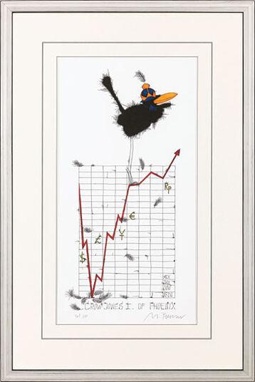 """Michael Ferner: Bild """"Crow Jones II of Phoenix"""" (2009), gerahmt"""