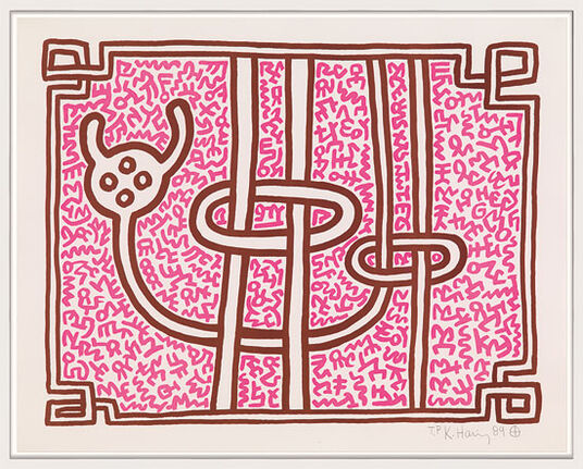 "Keith Haring: Bild ""Chocolate Buddha"" (1989)"