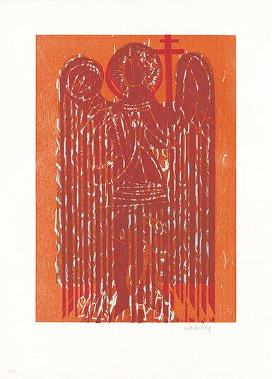 """HAP Grieshaber: Bild """"Ostengel"""" (1965)"""