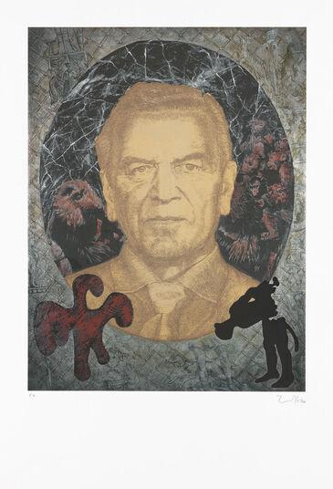 """Jörg Immendorff: Bild """"Gerhard Schröder"""" (2007)"""