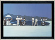 "Picture ""Bluebird at Bonneville"", gallery frame"