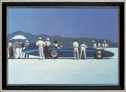 "Bild ""Bluebird at Bonneville"", gerahmt"