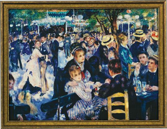 """Auguste Renoir: Bild """"Ball im Moulin de la Galette"""" (1876), gerahmt"""