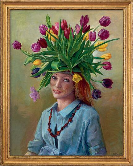 """Gudrun Brüne: Bild """"Frühlingsflora"""" (2008) (Original / Unikat), gerahmt"""