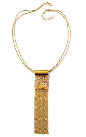 """Petra Waszak: Necklace """"Golden Adele"""" - after Gustav Klimt"""
