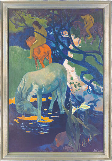"Paul Gauguin: Painting ""The White Horse"""