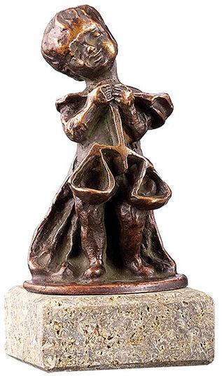 """Elisabeth Ehrhardt: Sternzeichen-Skulptur """"Waage"""" (24.9.-23.10.), Metallguss"""