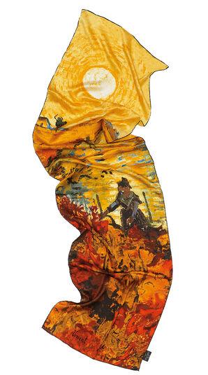 """Seidenschal """"Rote Weinberge"""" - nach Vincent van Gogh"""