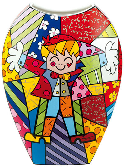 "Romero Britto: Porzellanvase ""Hug Too"", große Version"