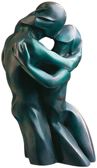 "Bernard Kapfer: Skulptur ""Der Kuss"", Version in Bronze"