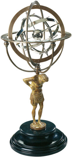 Armillary sphere with Atlas figure
