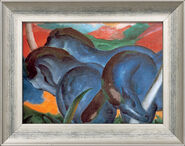 """Picture """"The big blue horse"""", 1911"""