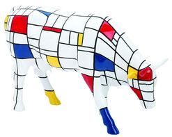 "Jon Eastman: Cow Object""Moondrian"", Artificial Casting"