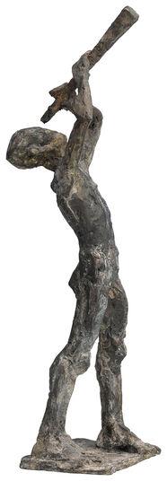 """Knuth Seim: Sculpture """"Sternengucker"""", Bronze"""
