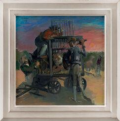 "Bild ""Don Quijote dem Löwen gegenüber"" (2009) (Original / Unikat), gerahmt"