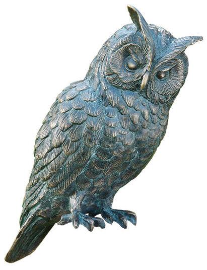 """Garden sculpture """"Long-eared Owl"""" (Version without Column)"""