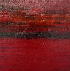 """Bild """"Kleine Landschaften in Rot 6"""" (2008) (Original / Unikat), ungerahmt"""