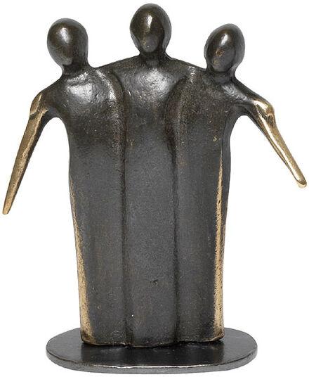 """Kerstin Stark: Skulptur """"Zusammenhalt"""", Bronze"""