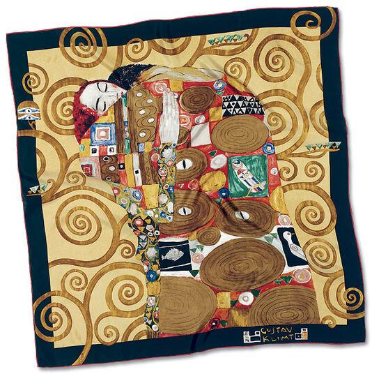 """Gustav Klimt: Seidentuch """"Die Erfüllung"""", 1905-09"""