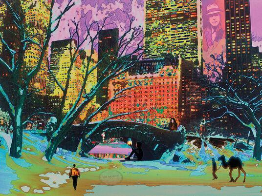 "Mojo Mendiola: Bild ""Dreamers Take Manhattan"" (2014)"