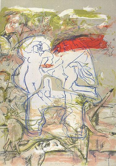 """Rainer Groß: Bild """"Still-Leben"""" (1982), ungerahmt"""
