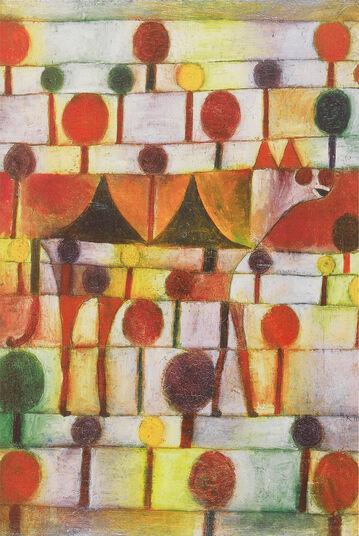"""Paul Klee: Bild """"Kamel in rhythmischer Baumlandschaft"""" (1920)"""