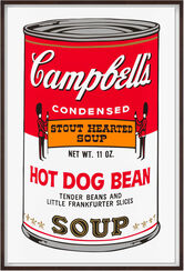 "Bild ""Warhols Sunday B. Morning - Campbell´s Soup - Hot Dog Bean"" (1980er Jahre)"