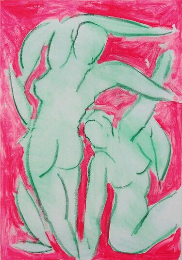 """Stefan Szczesny: Bild """"Akte vor Rosa"""" (2012) (Original / Unikat), ungerahmt"""
