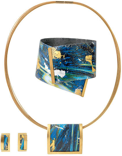 Kreuchauff-Design: Jewelry set 'Magic Blue'