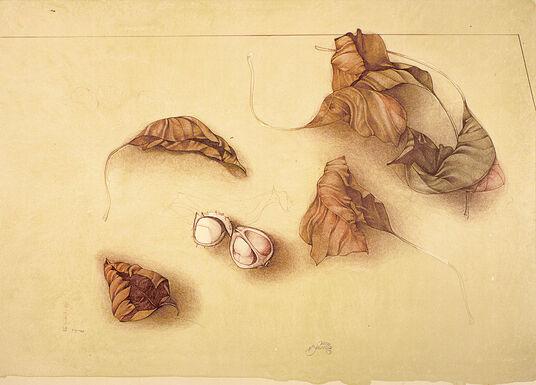 """Bruno Bruni: Painting """"Autunnol"""", Unframed"""